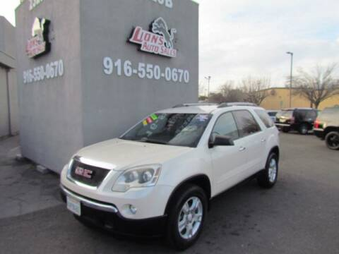 2012 GMC Acadia for sale at LIONS AUTO SALES in Sacramento CA