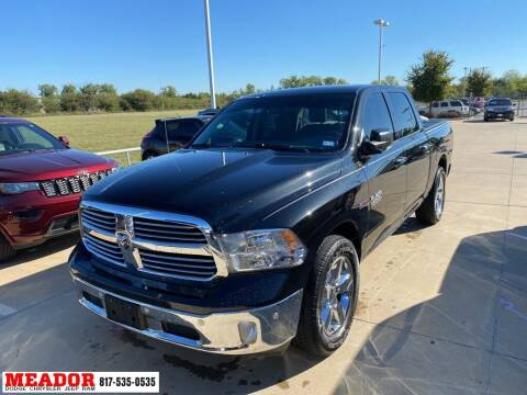 2018 RAM Ram Pickup 1500 for sale at Meador Dodge Chrysler Jeep RAM in Fort Worth TX