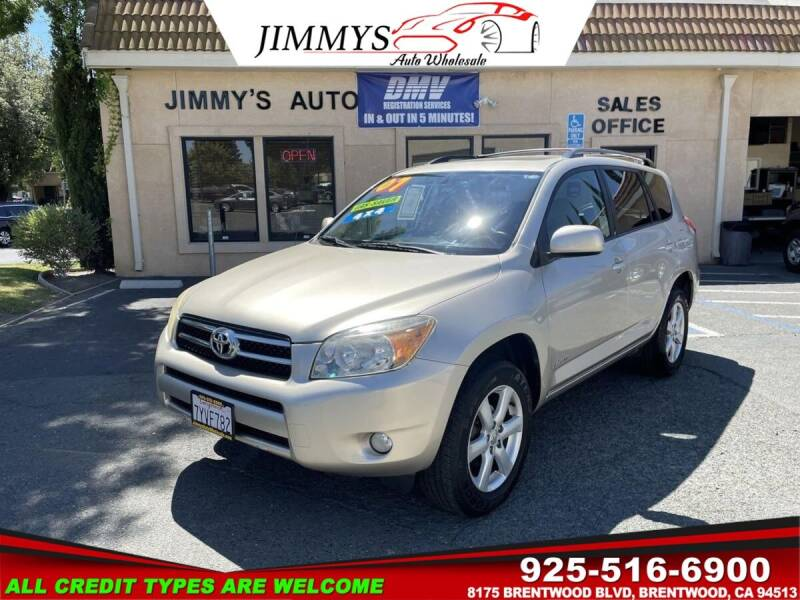 2007 Toyota RAV4 for sale at JIMMY'S AUTO WHOLESALE in Brentwood CA
