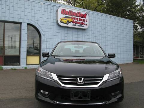 2014 Honda Accord for sale at Unlimited Auto Sales & Detailing, LLC in Windsor Locks CT