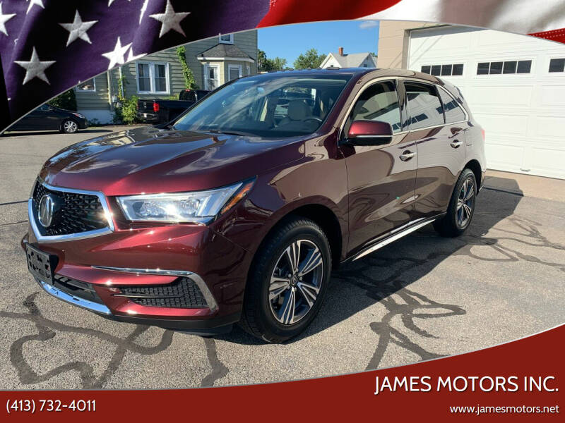 2017 Acura MDX for sale at James Motors Inc. in East Longmeadow MA