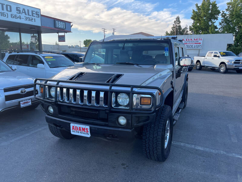 2003 HUMMER H2 for sale at Adams Auto Sales in Sacramento CA