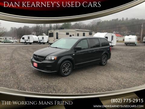 2014 Dodge Grand Caravan for sale at DAN KEARNEY'S USED CARS in Center Rutland VT