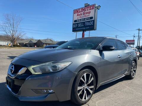 2016 Nissan Maxima for sale at Unlimited Auto Group in West Chester OH
