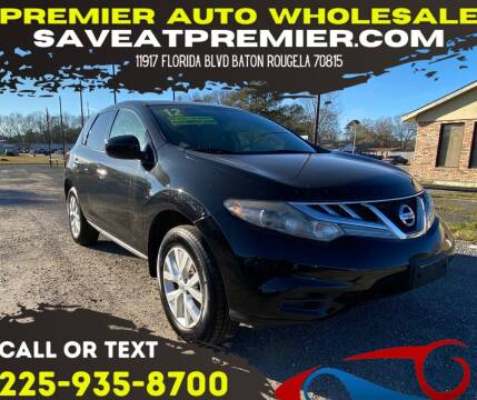 2012 Nissan Murano for sale at Premier Auto Wholesale in Baton Rouge LA