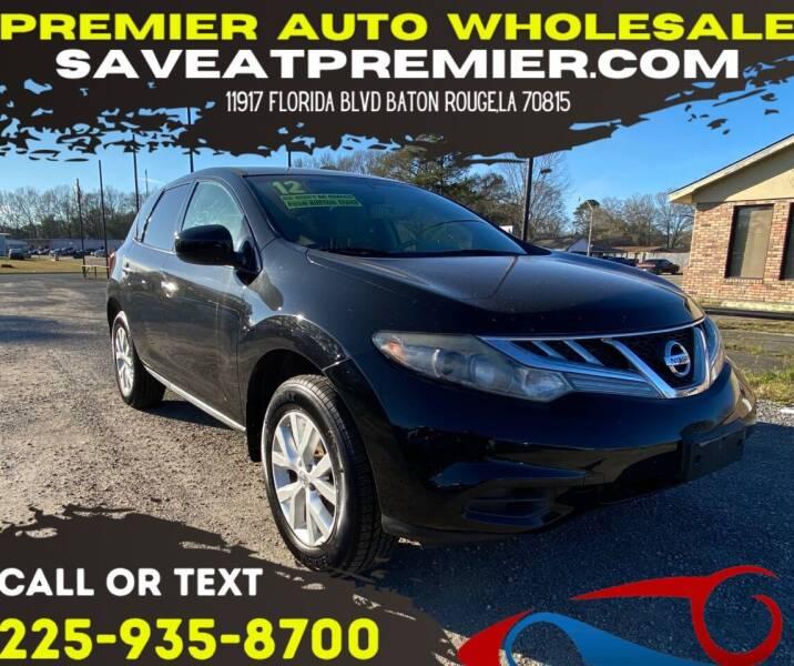 2012 Nissan Murano for sale at Premier Auto Wholesale in Baton Rouge LA