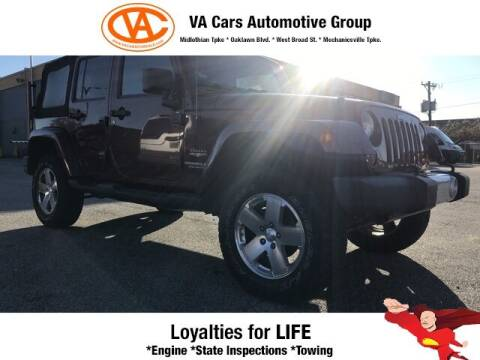 2009 Jeep Wrangler Unlimited for sale at VA Cars Inc in Richmond VA