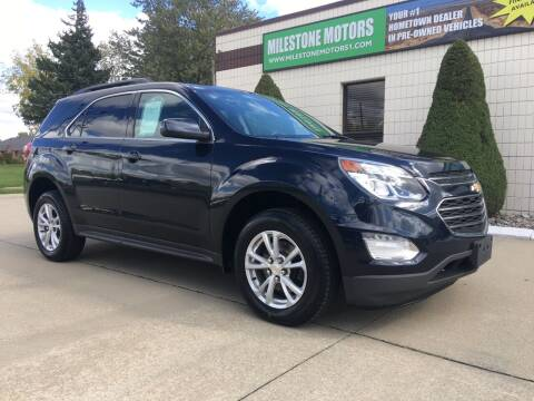2016 Chevrolet Equinox for sale at MILESTONE MOTORS in Chesterfield MI