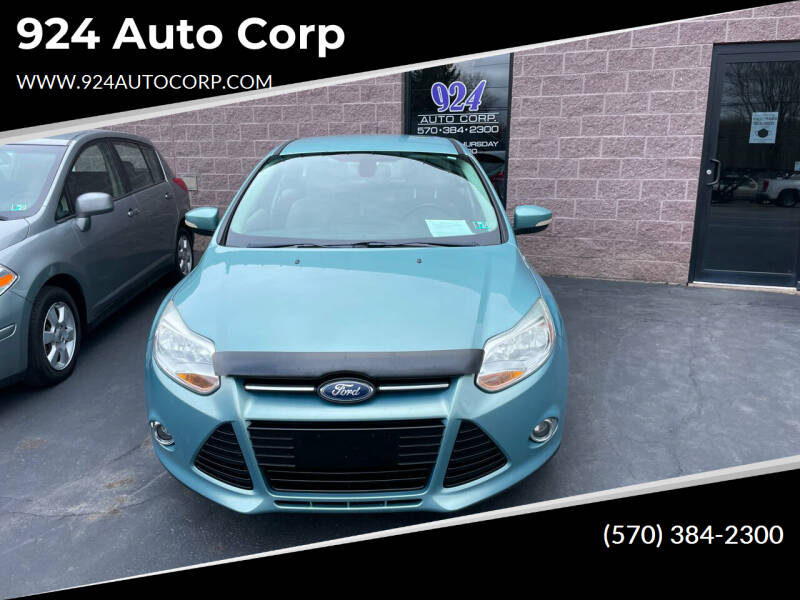 2012 Ford Focus for sale at 924 Auto Corp in Sheppton PA