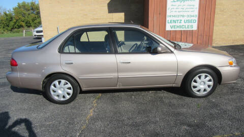 2001 Toyota Corolla for sale at LENTZ USED VEHICLES INC in Waldo WI