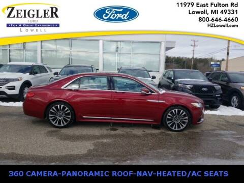 2017 Lincoln Continental for sale at Zeigler Ford of Plainwell- Jeff Bishop in Plainwell MI