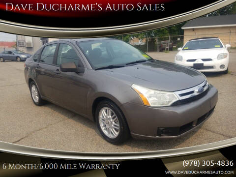 2009 Ford Focus for sale at Dave Ducharme's Auto Sales in Lowell MA