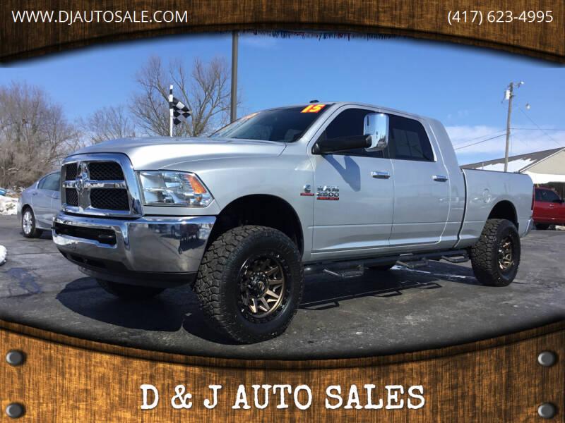 2015 RAM Ram Pickup 2500 for sale at D & J AUTO SALES in Joplin MO