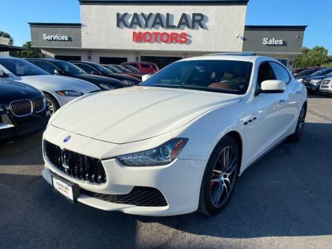 2016 Maserati Ghibli for sale at KAYALAR MOTORS in Houston TX