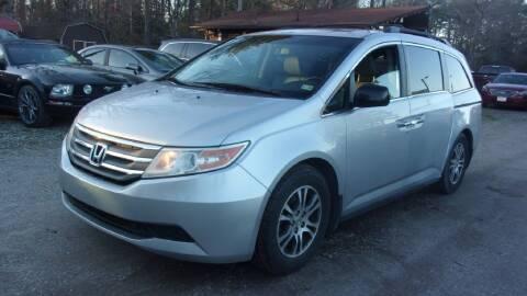 2012 Honda Odyssey for sale at Select Cars Of Thornburg in Fredericksburg VA