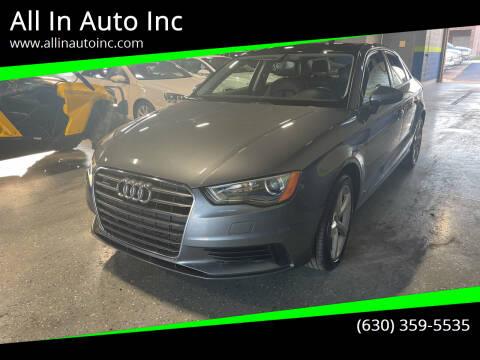 2015 Audi A3 for sale at All In Auto Inc in Addison IL