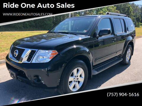 2012 Nissan Pathfinder for sale at Ride One Auto Sales in Norfolk VA
