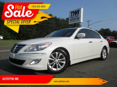 2013 Hyundai Genesis for sale at AUTOTYM INC in Fredericksburg VA