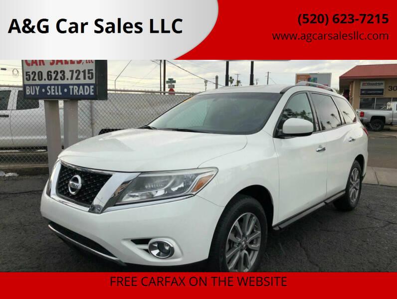 2016 Nissan Pathfinder for sale at A&G Car Sales  LLC in Tucson AZ
