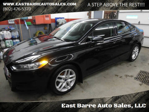 2014 Ford Fusion for sale at East Barre Auto Sales, LLC in East Barre VT