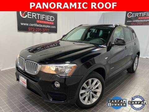 2017 BMW X3 for sale at CERTIFIED AUTOPLEX INC in Dallas TX