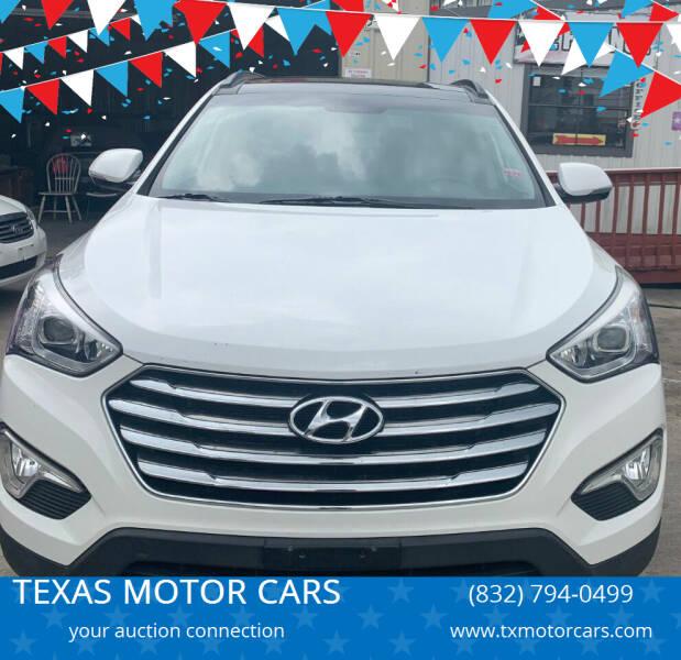 2014 Hyundai Santa Fe for sale at TEXAS MOTOR CARS in Houston TX