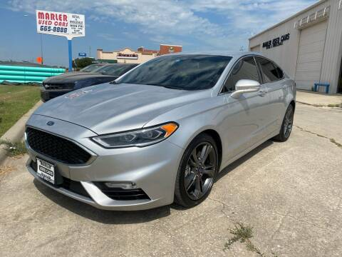2017 Ford Fusion for sale at MARLER USED CARS in Gainesville TX