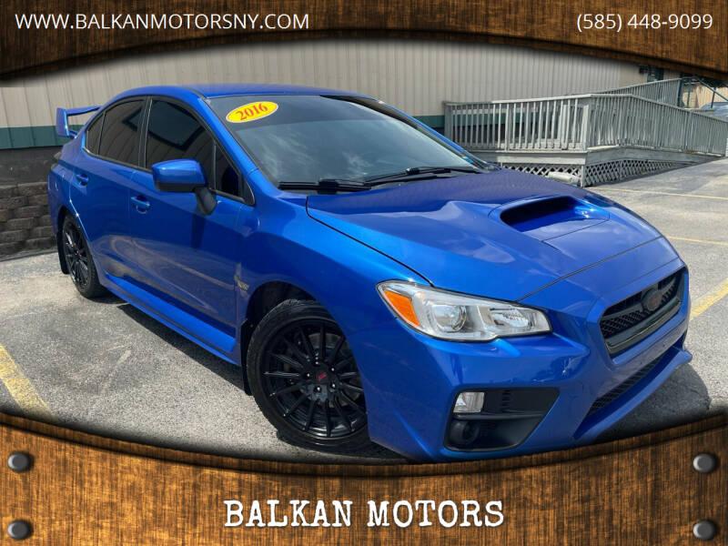 2016 Subaru WRX for sale at BALKAN MOTORS in East Rochester NY