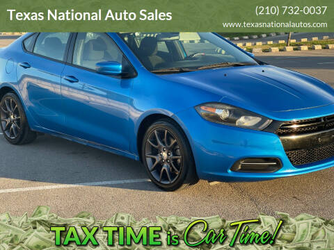 2015 Dodge Dart for sale at Texas National Auto Sales in San Antonio TX