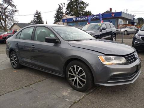 2015 Volkswagen Jetta for sale at All American Motors in Tacoma WA