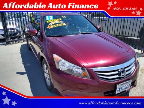 2012 Honda Accord for sale at Affordable Auto Finance in Modesto CA
