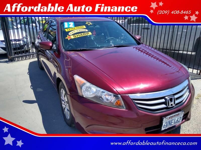 2012 Honda Accord for sale at Affordable Auto Finance in Modesto CA