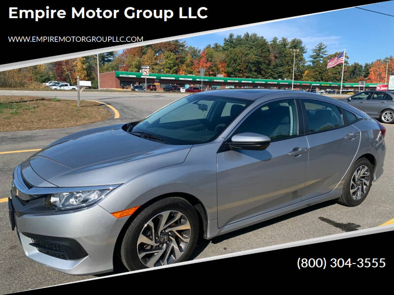 2017 Honda Civic for sale at Empire Motor Group LLC in Plaistow NH
