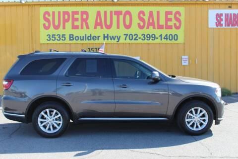 2014 Dodge Durango for sale at Super Auto Sales in Las Vegas NV