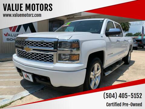 2014 Chevrolet Silverado 1500 for sale at VALUE MOTORS in Kenner LA