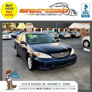 2003 Toyota Camry for sale at SAMPEDRO MOTORS COMPANY INC in Orlando FL