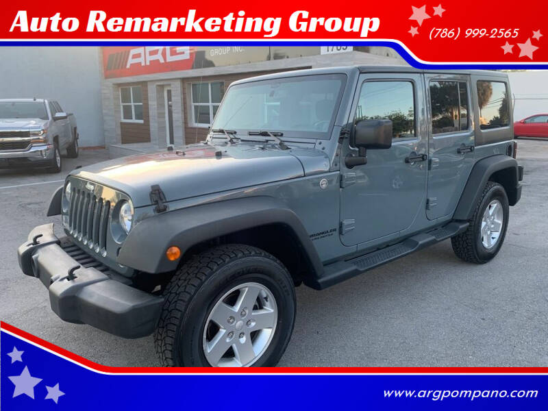 2014 Jeep Wrangler Unlimited for sale at Auto Remarketing Group in Pompano Beach FL