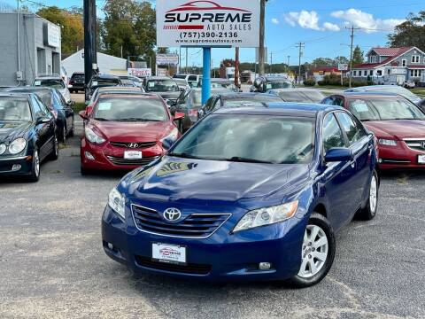 2008 Toyota Camry for sale at Supreme Auto Sales in Chesapeake VA