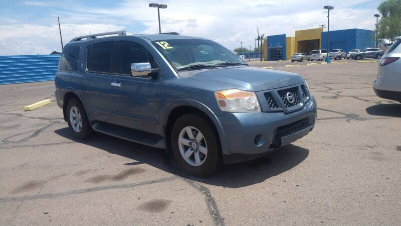 2012 Nissan Armada for sale at CAMEL MOTORS in Tucson AZ