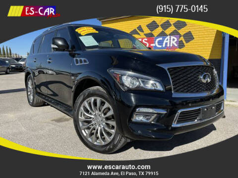 2015 Infiniti QX80 for sale at Escar Auto in El Paso TX