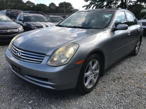 2004 Infiniti G35 for sale at ATLANTA AUTO WAY in Duluth GA