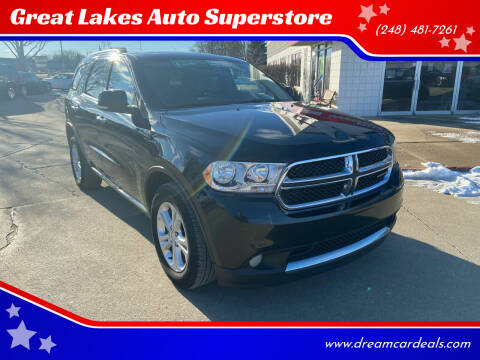 2013 Dodge Durango for sale at Great Lakes Auto Superstore in Pontiac MI