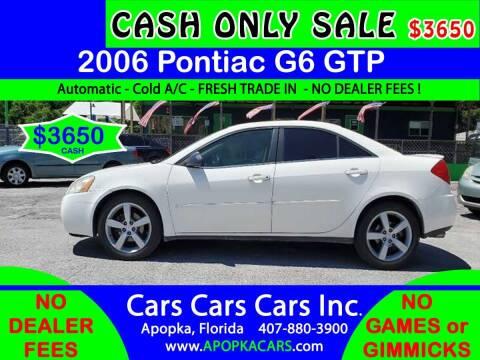 2006 Pontiac G6 for sale at CARS CARS CARS INC in Apopka FL