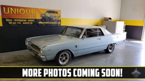 1967 Dodge Dart for sale at UNIQUE SPECIALTY & CLASSICS in Mankato MN