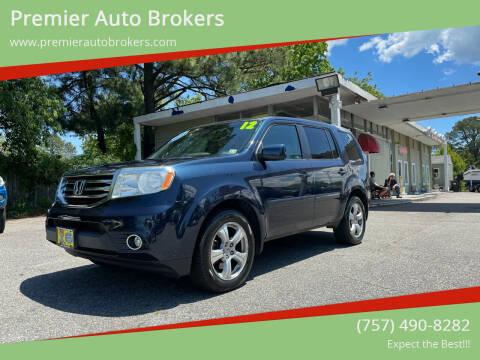 2012 Honda Pilot for sale at Premier Auto Brokers in Virginia Beach VA