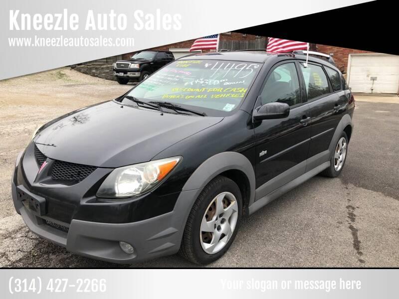 2004 Pontiac Vibe for sale at Kneezle Auto Sales in Saint Louis MO