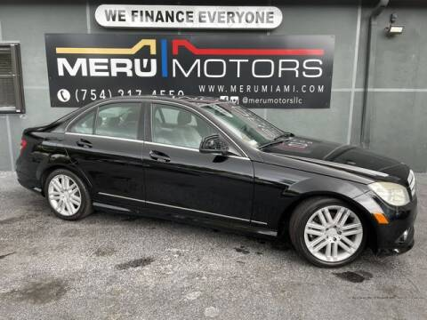2008 Mercedes-Benz C-Class for sale at Meru Motors in Hollywood FL