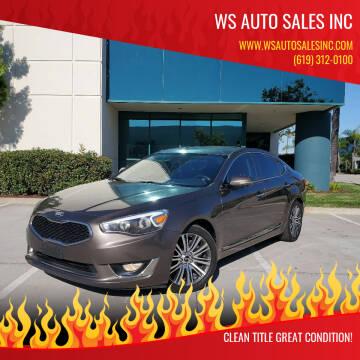 2014 Kia Cadenza for sale at WS AUTO SALES INC in El Cajon CA