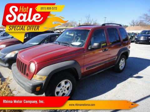 2007 Jeep Liberty for sale at Rhima Motor Company, Inc. in Haltom City TX