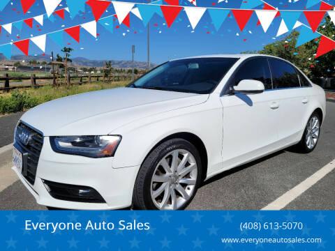2013 Audi A4 for sale at Everyone Auto Sales in Santa Clara CA